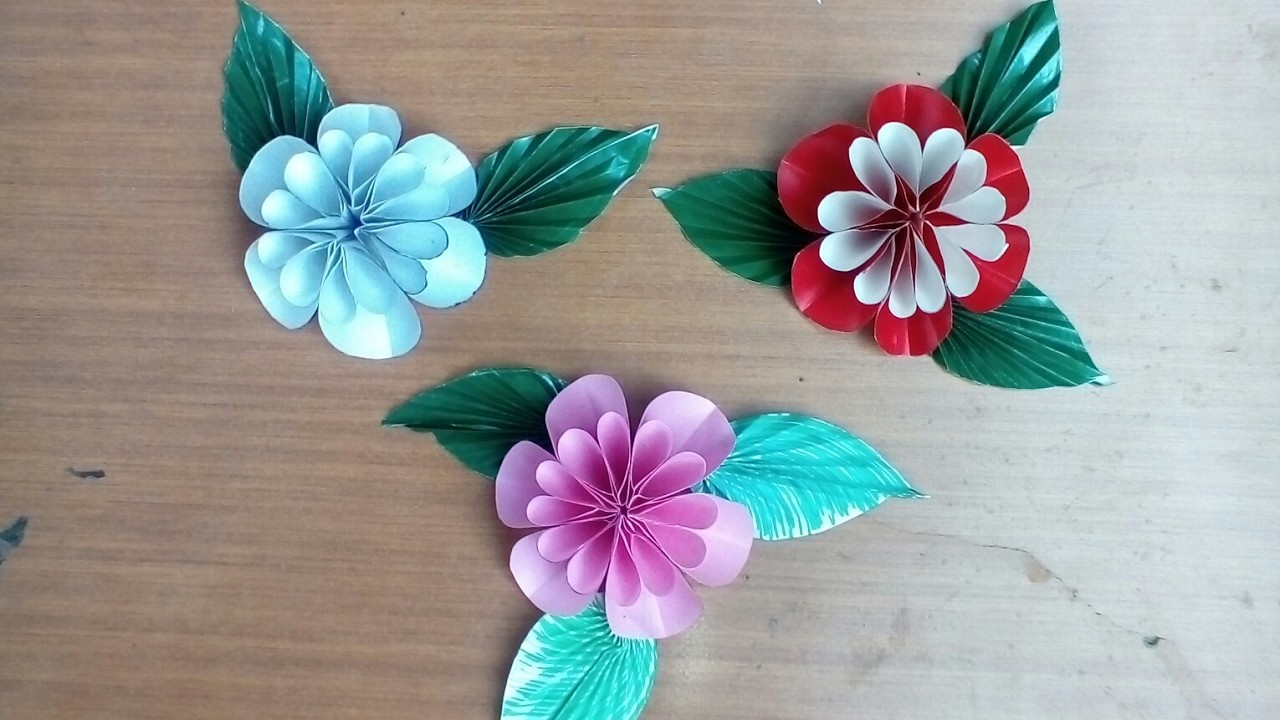 Easy handmade paper flower tutorial my crafts and diy - Simple handmade paper flowers ...