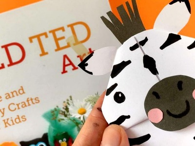 Easy Zebra Bookmark DIY - Animal Corner Bookmark Designs
