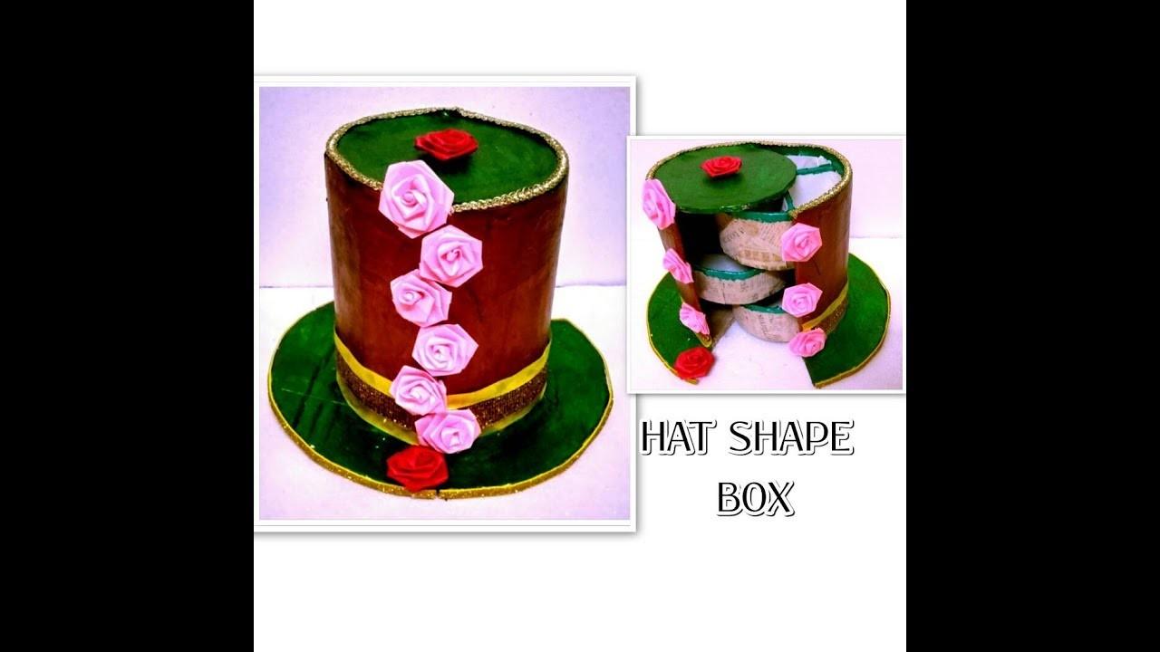Hat Shaped Storage Box | Surprise Box | DIY CRAFTS FOR ROOM DECOR |