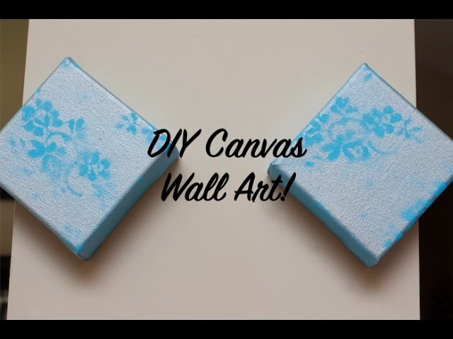 How To DIY Lace Canvas Wall Art
