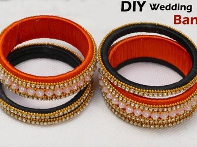 How to make latest Silk thread Bangles at home | DIY Bangle set | Jewellery making | wedding bangles