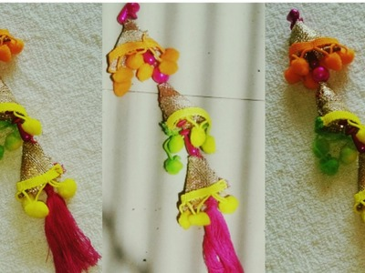 HOW TO MAKE POM POM LATKAN.TASSELS FOR INDIAN OUTFIT| DIY |