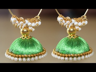 How to make Silk Thread Earrings | Tutorial for Complete Beginners | Handmade Crafts
