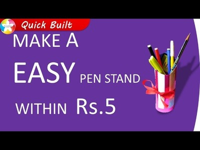 How to make very easy Pen Stand DIY