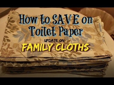How to SAVE on Toilet Paper - UPDATE on Family Cloths