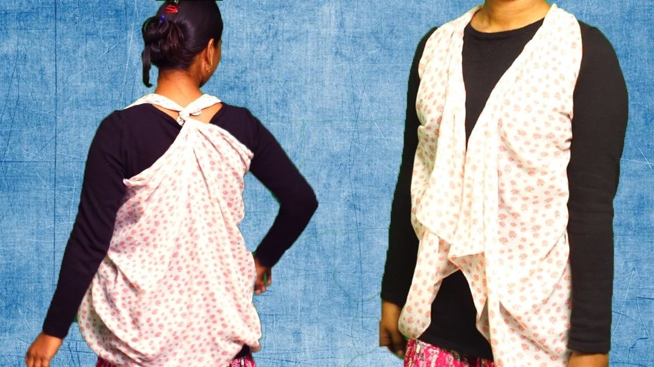 How To Turn A Scarf Into Vest   DIY   Refashion Clothes - DIY Crafts