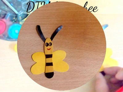 Kids Crafts - DIY Honeybee with an ice-cream spoon
