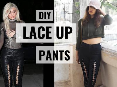 Kylie Jenner Inspired DIY Lace Up Pants | Karen Or
