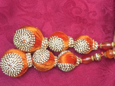 LATKANS FOR SAREE BLOUSE.D-I-Y SAREE TASSELS