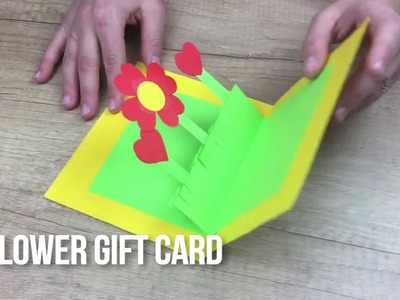 Mother's day DIY for kids flower gift card VERY EASY to make