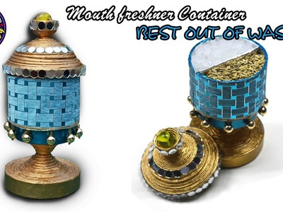 Newspaper Mouth freshener container | Best out of waste | | DIY | Art with Creativity 196