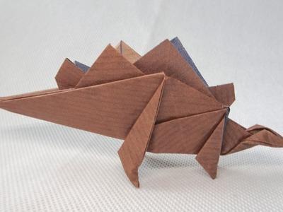 ORIGAMI DINOSAUR STEGOURUS | Paper Dinosaur