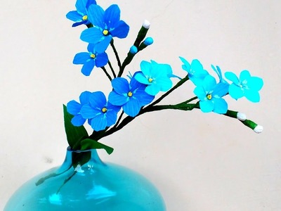 Paper Flowers Forget-me-Nots \ Myosotis (flower # 153)