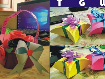 Flower Paper Gift Box And Gift Baskets Origami Paper Box Flower