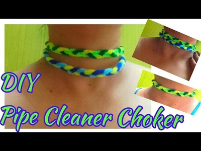 Pipe Cleaner Choker DIY | How to make Braided Necklace | Pipe cleaner ideas for fashion jewellery