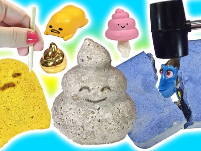 Real Vs DIY DIG IT Bars!! Poop Emoji Dig It! GUDETAMA! Rare Gems & Pearl Finds! Doctor Squish