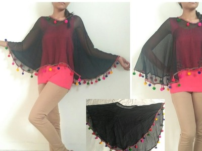 Recycle Your Old Dupatta into Cape.DIY Cape.Reuse Old Dupatta.VIEWER'S CHOICE