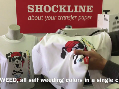 Shock Line -  Self-weeding (No Cut) transfer paper for light fabrics (code FC TOPCUT2016)