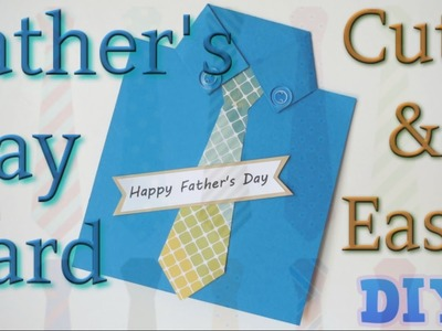 Simple and Easy Handmade Father's Day Card|Shirt and Tie Card DIY