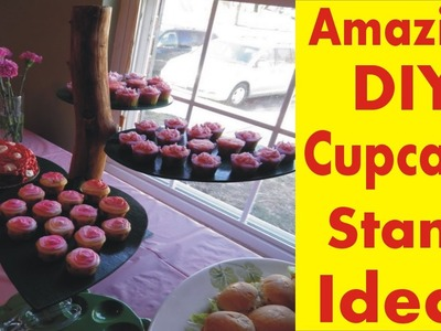 The Amazing DIY Cupcake Stand - Desert Garden Cake Stand Ideas