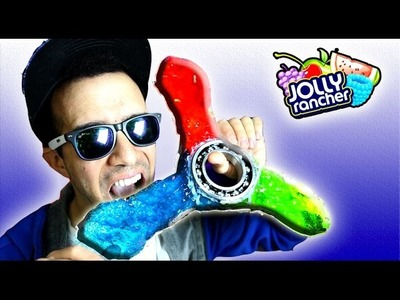 WORLD'S BIGGEST CANDY FIDGET SPINNER!  DIY Jolly Rancher Hand Spinners