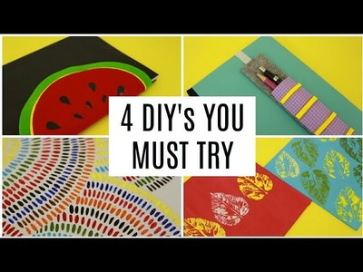 4 EASY DIY's TO TRY WHEN YOU ARE BORED