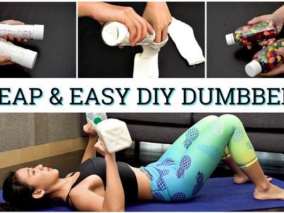 5 Cheap & Easy DIY Dumbbell Ideas   Joanna Soh