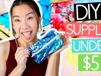5 DIY BACK TO SCHOOL SUPPLIES UNDER $5! Pencil Cases, DIY Notebooks, Pencils, ETC!   Emily Dao