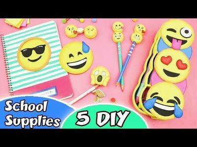 5 DIY SCHOOL SUPPLIES EMOJIS - Back to School | aPasos Crafts DIY