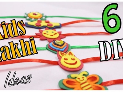 6 Easy DIY Kids Rakhi making ideas for Raksha Bandhan I Foam Sheet rakhi I Creative Diaries