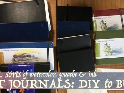 All Sorts of Watercolor Art Journals: DIY to Buy!