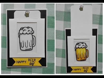 Awesome beer slider card DIY every man will love ! birthday & father's day
