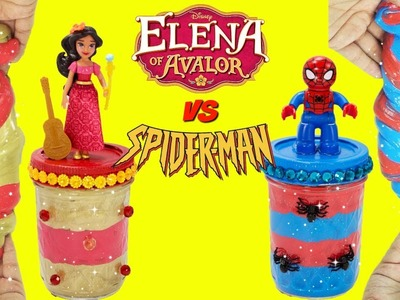 D.I.Y. Elena of Avalor VS Spiderman SLIME CHALLENGE Do It Yourself Slime Recipe