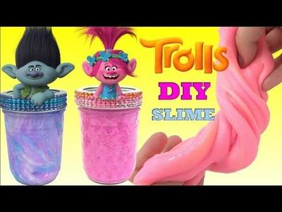 D.I.Y. TROLLS Poppy Vs. Branch Slime Challenge, Ooze In Real Life IRL, Fun Kids Craft. TUYC