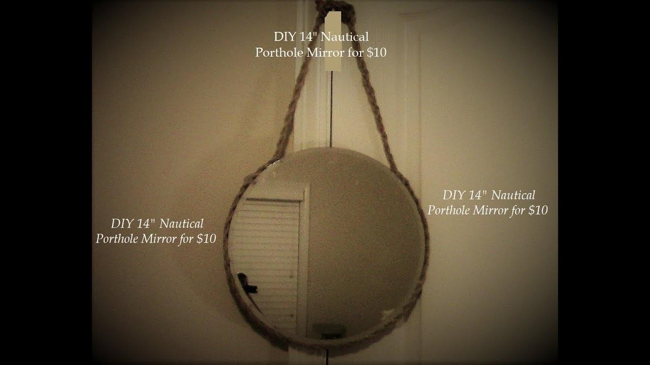 "DIY 14"" Nautical Porthole Wall Mirror, Beach House Decor $10"