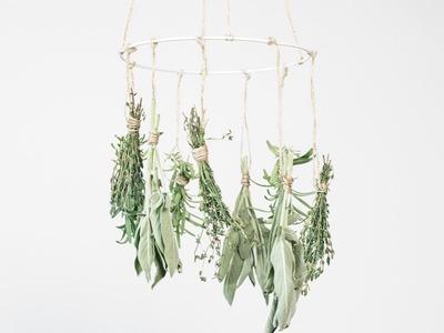 DIY : Air-dry herbs from the garden by Søstrene Grene