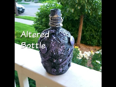 DIY-Beautiful Altered Bottle from Found Treasures