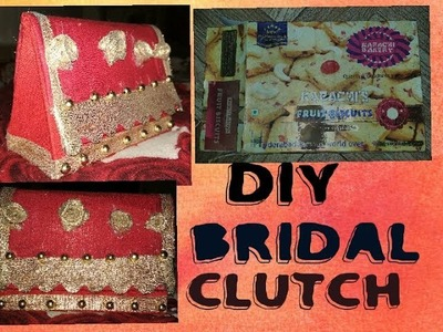 DIY BRIDAL CLUTCH.MAKE UP BOX. JEWELLERY BOX.OUT OF BISCUIT BOX.BEST OUT OF BEST.MISBA AFROZ ????