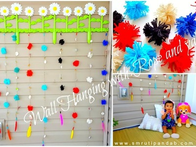DIY Budget friendly Wall Hanging for my Garden with Rope and Yarn | Simple and easy Craft Tutorial