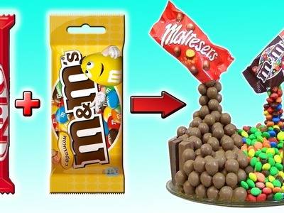 DIY - CAKE from KIT-KAT, M&M's and Maltesers. How to make it at home