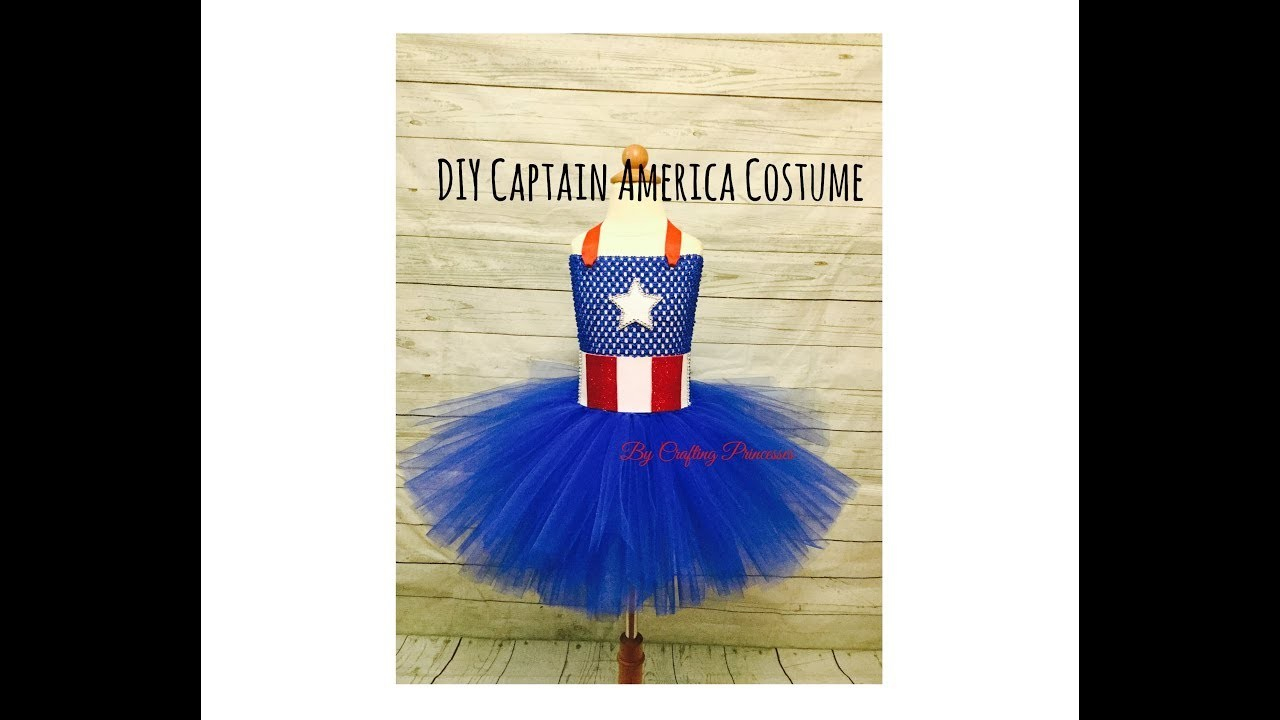 DIY Captain America Tutu Dress | Super Hero Series
