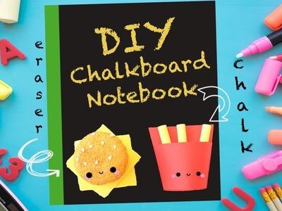 DIY CHALKBOARD AND SQUISHY NOTEBOOK! - KAWAII BACK TO SCHOOL CRAFTS