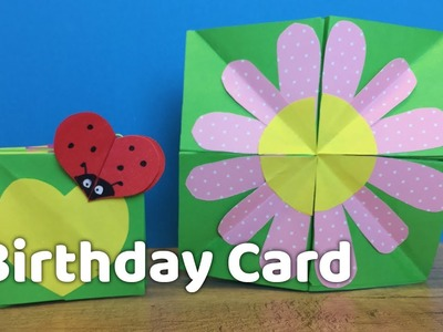 DIY Creative Birthday Card Idea for Kids - Very easy to make at home