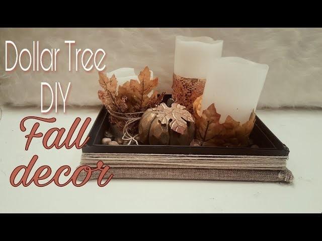 DIY DOLLAR  TREE FALL DECOR UPCYCLE CANDLES