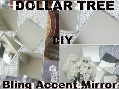 DIY DOLLAR TREE MIRROR | DIY BLING DECOR WITH KINGSO DIAMOND MESH WRAP | DIY GLAM HOME ACCENT PIECE