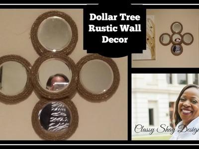 DIY: Dollar Tree Rustic Wall Decor| Glam |Farmhouse