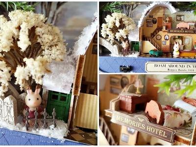 "DIY Dollhouse Miniature Tin Box - ""Roam Around in Winter"""