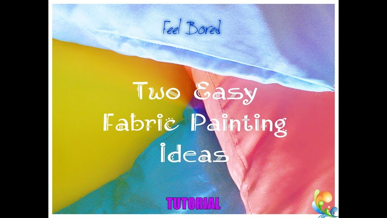 DIY easy fabric painting ideas for beginners
