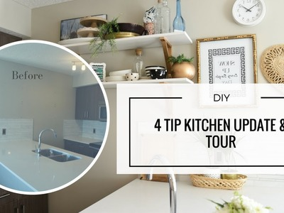 DIY - Easy Rental Kitchen Update for a Pinterest Worthy Reveal