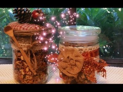 DIY~Fall Or Christmas Hostess Gift Jars